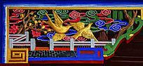 千山无量观三官殿房檐檐角飞翔的喜鹊木雕