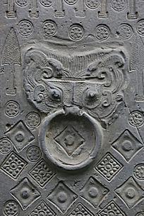 陶博馆展品汉代砖雕门扣