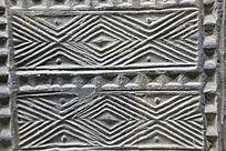 陶博馆展品汉代砖雕线条图案