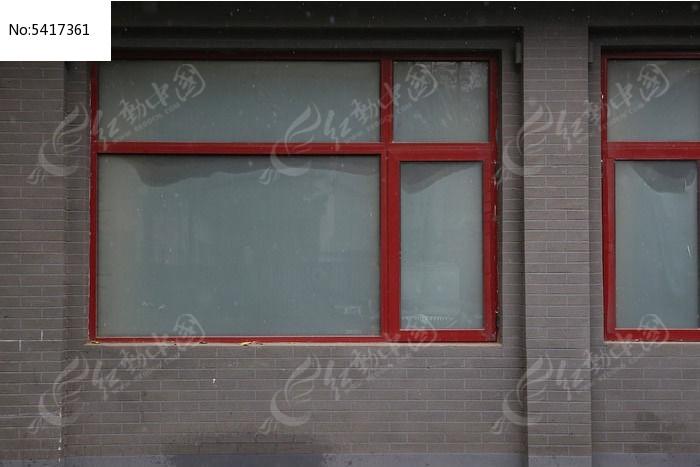 北京民居铝合金框架玻璃窗户纹理背景素材图片
