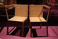 北京世纪坛家具展展品一对椅子