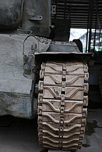 军博展品美国造潘兴坦克链条