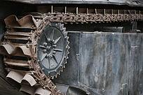 军博展品美国造水路坦克侧面