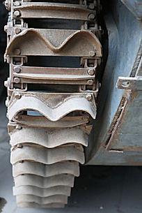 军博展品美国造水路坦克链条