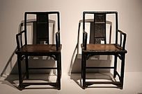 世纪坛家具展展品红木靠背椅子