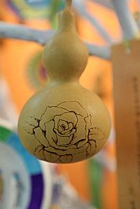 世纪坛展品葫芦画牡丹