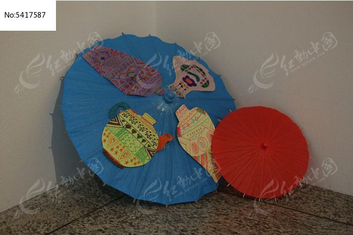 中华世纪坛展品的传统工艺纸伞高清图片下载 红动网