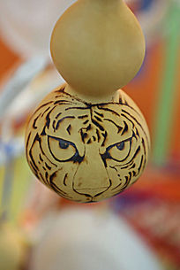 中华世纪坛展品葫芦画老虎