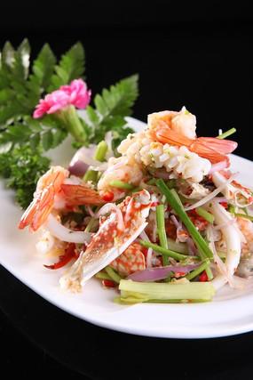 泰式酸辣什锦海鲜沙拉