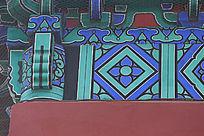 天坛西大门上的传统花纹边框