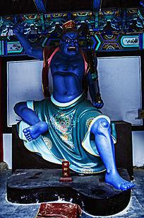 千山大佛寺来迎门常咲亭金轮王雕像