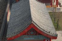 孔庙灰瓦建筑