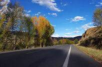 秋日唯美的318公路