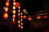 四川成都锦里夜晚的灯笼