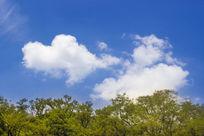 清新风格天空