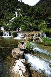 小七孔景区双龙瀑布跌水瀑布