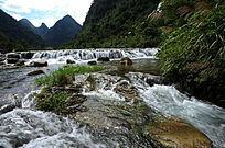 小七孔景区双龙瀑布水域