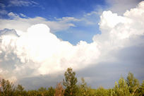 夏日蓝天白云背景素材