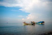 白沙湾海滨浴场美景