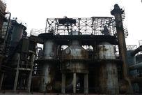 北京798文化艺术区废弃储油罐厂区