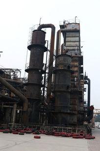 北京798文化艺术区工厂锅炉全景