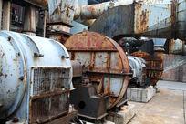 北京798艺术区废弃电机设备