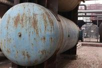 北京798艺术区废弃蓝色储油罐