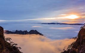 黄山上的日出