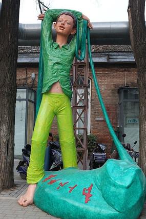 798为人民服务小男孩雕塑
