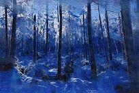 电脑油画《林海雪原》