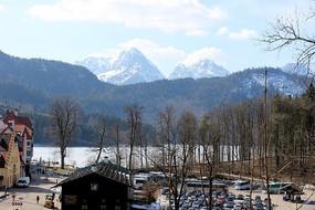 富森雪山湖泊