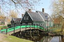 荷兰阿姆斯特丹风车村桑斯安斯民居