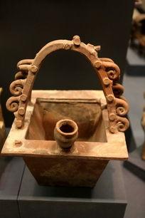 古代方形陶篮子