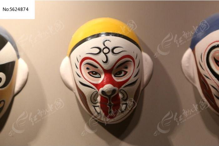 京剧脸谱孙悟空雕像图片