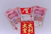 人民币与大吉大利红包