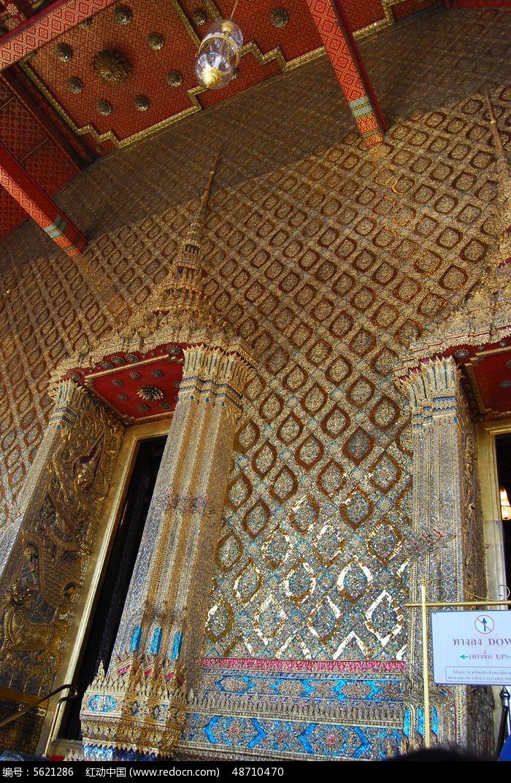 泰国建筑艺术墙面装饰图片