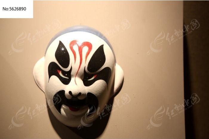 京剧脸谱黑三块瓦雕像图片