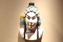 京剧脸谱花旦雕像