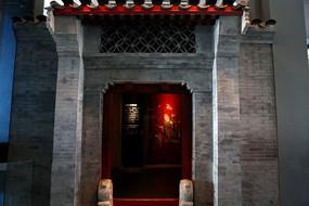 老北京传统风格大门背景