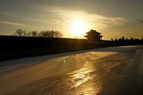 落日下的紫禁城