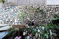 文化墙与自行车