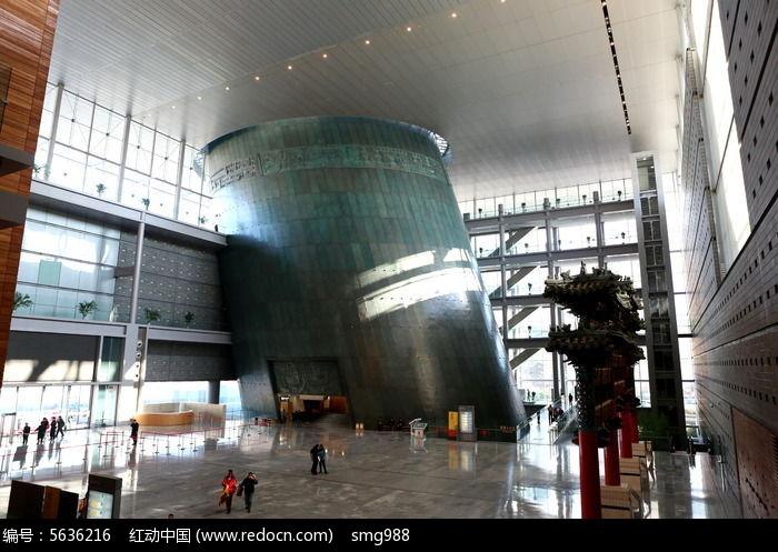 首都博物馆挑空参观大厅图片