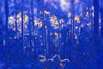 抽象电脑画《林海雪原》