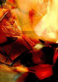 无框画抽象油画