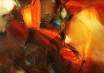 朱德群抽象油画