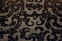 壁刻古代花纹石雕