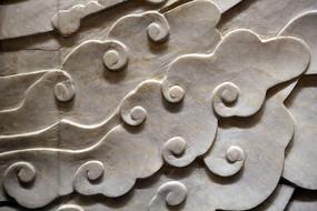 壁刻古代祥云图案雕刻