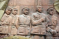 壁刻南昌八一起义石雕