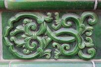 古代琉璃花纹雕刻