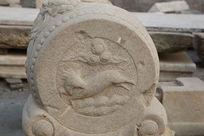 古代祥云和飞马图案石刻